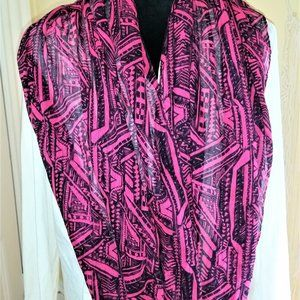 Light Infinity Pink and Black Scarf